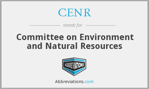 What does CENR stand for?
