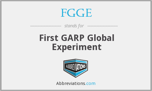 What does FGGE stand for?