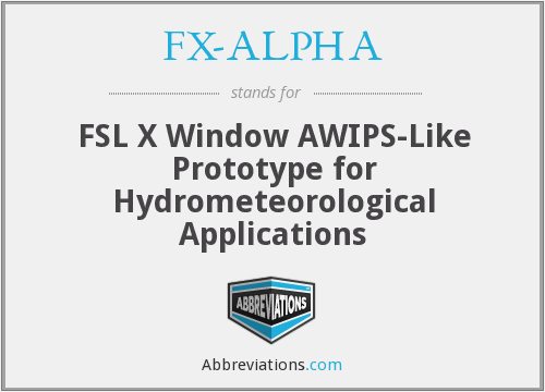 What does FX-ALPHA stand for?