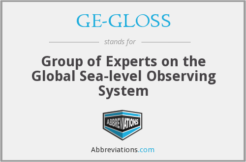 What does GE-GLOSS stand for?