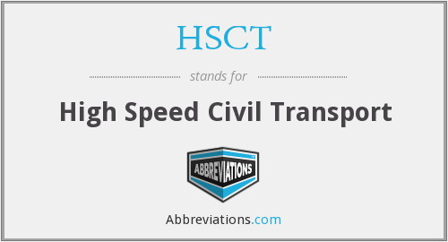 What does HSCT stand for?