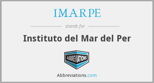 What does IMARPE stand for?