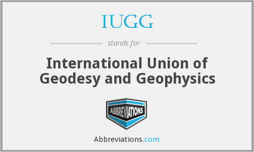 What does IUGG stand for?