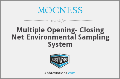 What does MOCNESS stand for?