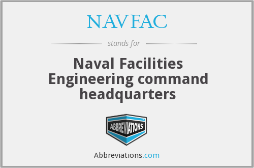 What does NAVFAC stand for?