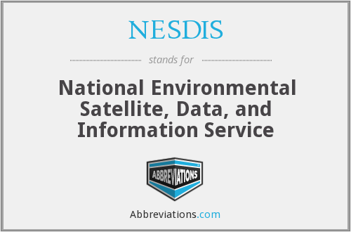 What does NESDIS stand for?