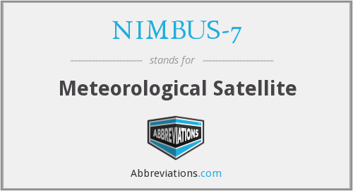 What does NIMBUS-7 stand for?