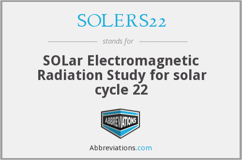 What does SOLERS22 stand for?
