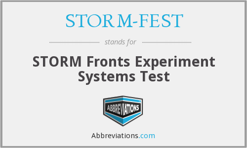 What does STORM-FEST stand for?