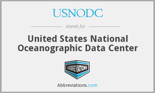 What does USNODC stand for?