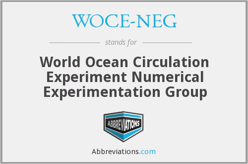 What does WOCE-NEG stand for?