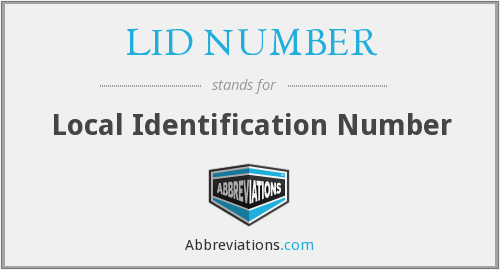 What does LID NUMBER stand for?