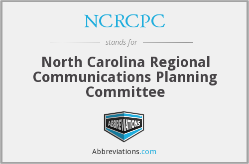 What does NCRCPC stand for?