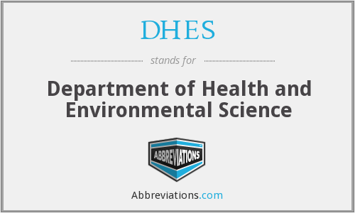 What does DHES stand for?