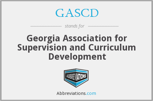 What does GASCD stand for?