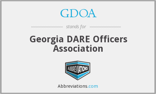 What does GDOA stand for?