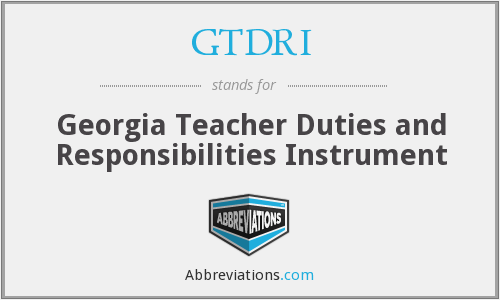 What does GTDRI stand for?