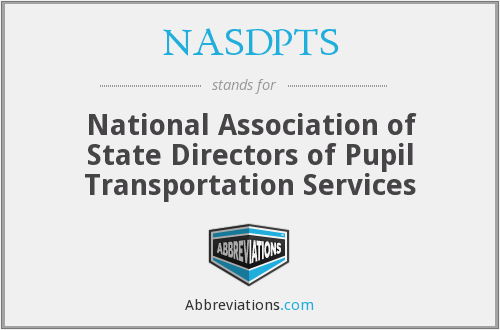 What does NASDPTS stand for?