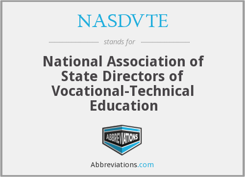 What does NASDVTE stand for?