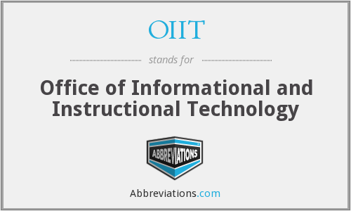 What does OIIT stand for?