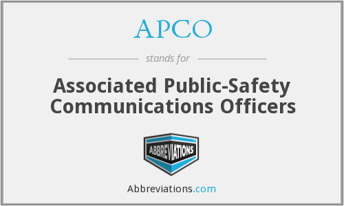 What does APCO stand for?