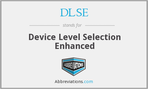 What does DLSE stand for?