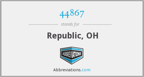 What does 44867 stand for?