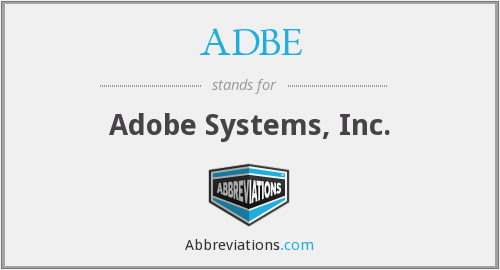 What does ADBE stand for?
