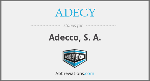 What does ADECY stand for?