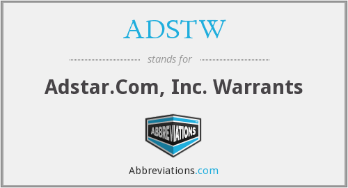 What does ADSTW stand for?