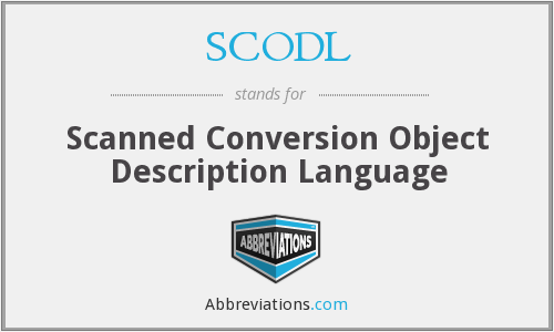 What does SCODL stand for?