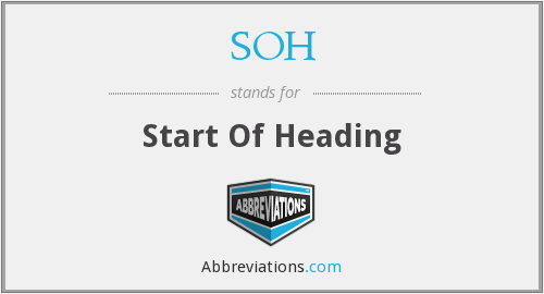 What does SOH stand for?
