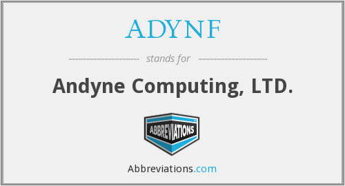 What does ADYNF stand for?