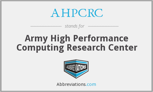 What does AHPCRC stand for?