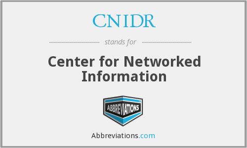 What does CNIDR stand for?