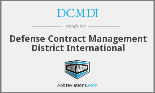 What does DCMDI stand for?