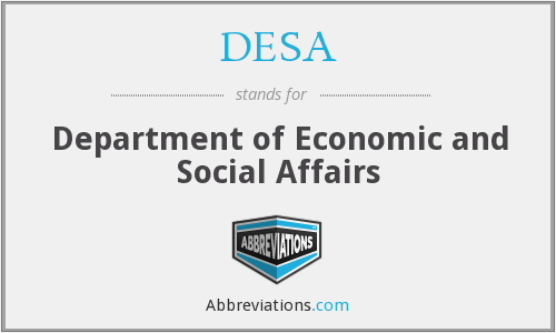 What does DESA stand for?