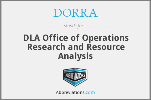 What does DORRA stand for?