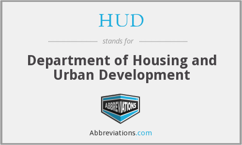 What does HUD stand for?