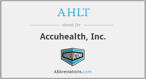 What does AHLT stand for?