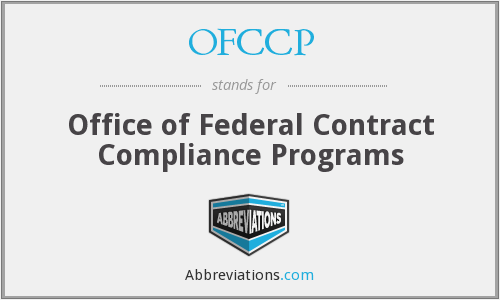 What does OFCCP stand for?