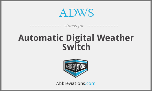 What does ADWS stand for?