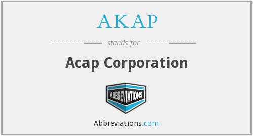 What does AKAP stand for?