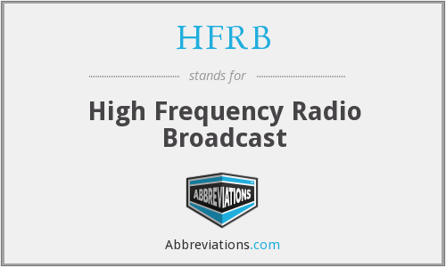 What does HFRB stand for?