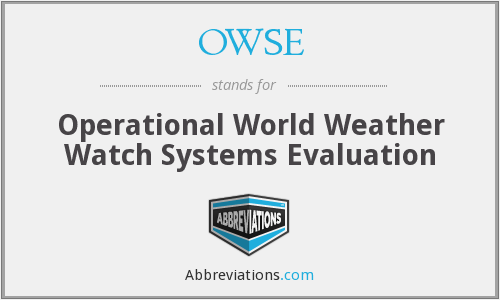 What does OWSE stand for?