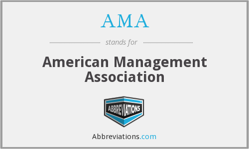 What does AMA stand for?