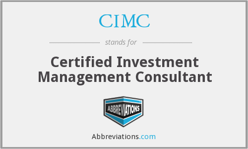 What does CIMC stand for?