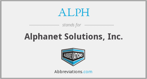 What does ALPH stand for?