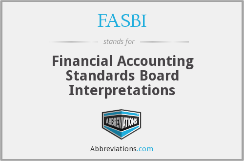 What does FASBI stand for?
