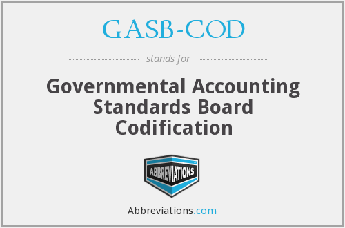 What does GASB-COD stand for?